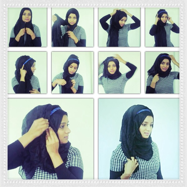 HIJAB STYLE USING A HEADBAND