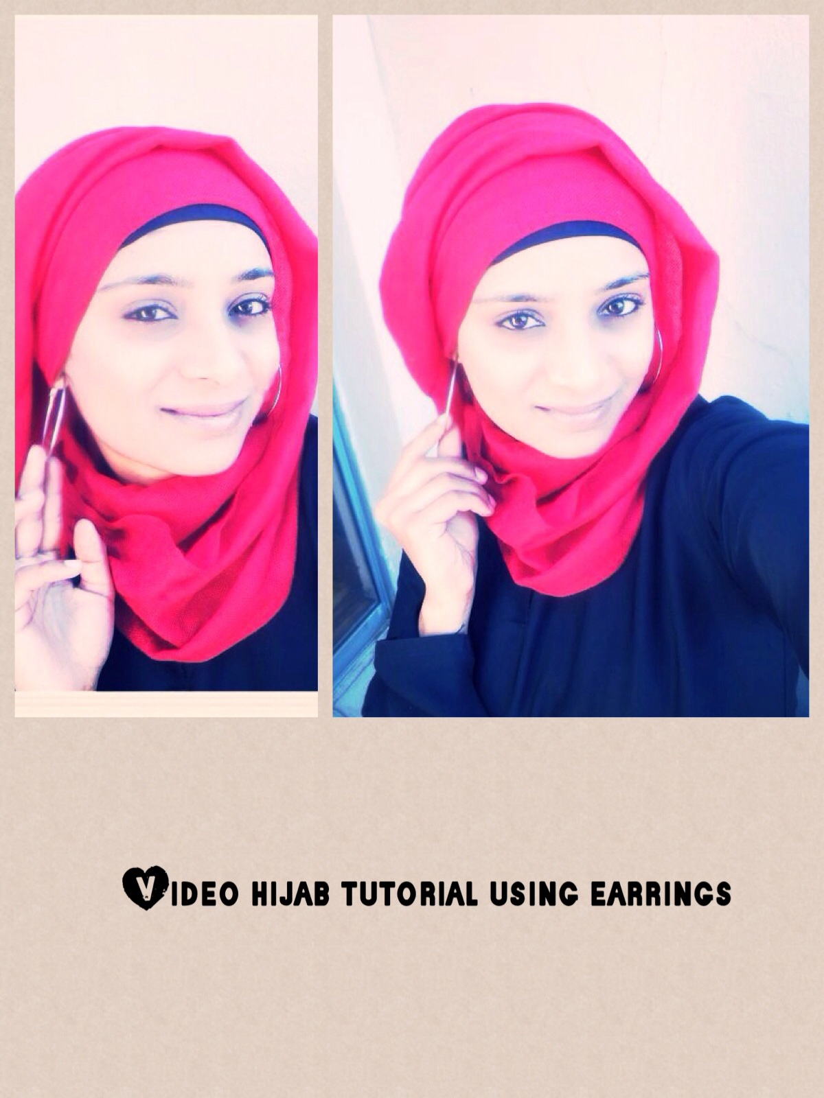 HIJAB TUTORIAL USING EARINGS