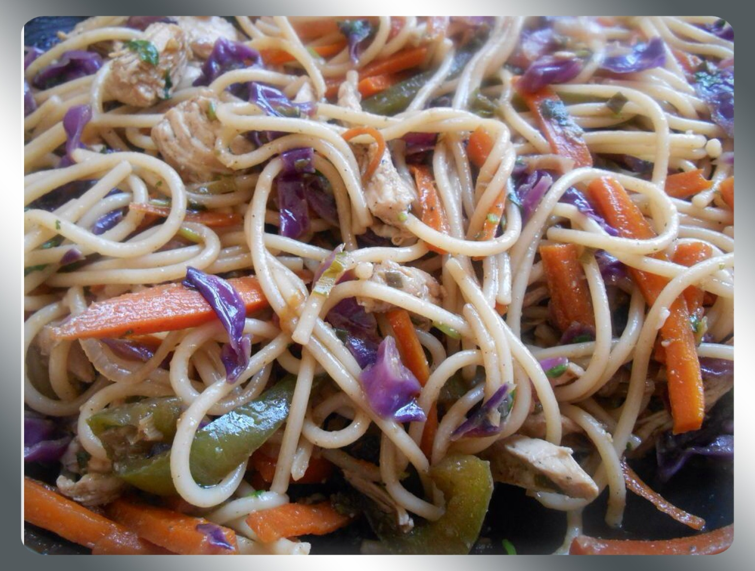 MY CREATION OF CHICKEN CHOWMEIN