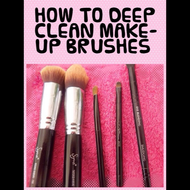 LETS CLEAN OUR MAKE-UP BRUSHES